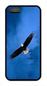 iPhone 5 Case, iPhone 5S Cases - Soft Flexible Case for iPhone 5/5s Flight Of Freedom Bald Eagle Ultra Thin Black Soft Back Case for iPhone 5/5S