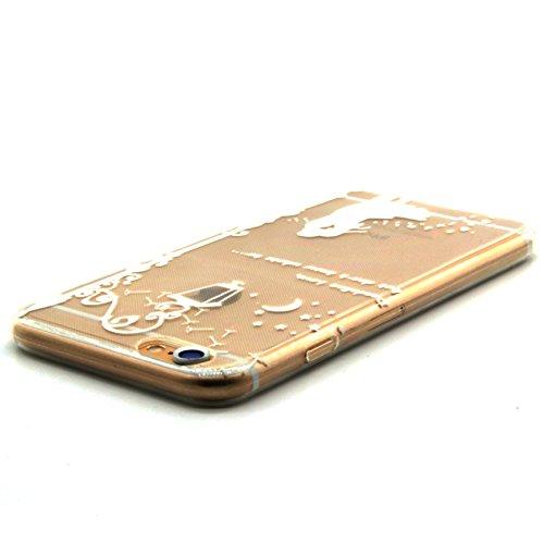 iPhone 6S Case,iPhone 6 Cover - Felfy Apple iPhone 6/6S 4.7 Zoll Ultra Slim Dünnen Weiche Soft Gel romantisch Mond Lichter Liebhaber Muster TPU Silikon Back Bumper Hülle Zurück Tasche Etui Protective