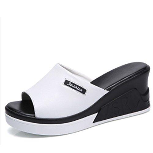 Zapatillas sandalias Aumentado salvajes de A de cuero desgaste Pista de B palisandro de Color verano Cómodo opcionales de colores frescas gruesas Zapatos moda Zapatillas 2 opcional con tamaño qaISnXw