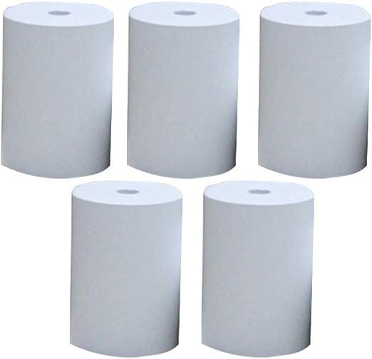 Rollo de papel para impresora de recibos de 5 rollos para máquinas ...
