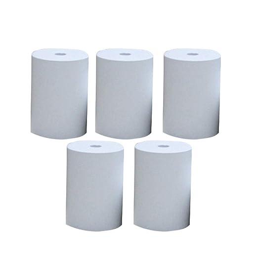 Rollo de papel para impresora de recibos de 5 rollos para ...