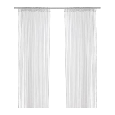 Good Ikea Mesh Lace Curtains, 110 Inch By 98 Inch, 1 Pair, White