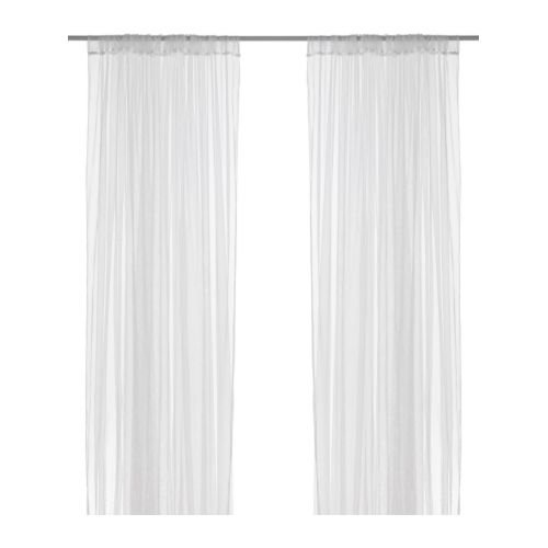 sheer lace curtain panels - 5