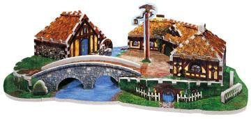 Hobbiton from Lord of the Rings, 369 Piece 3D Jigsaw Puzzle Made by Wrebbit Puzz-3D