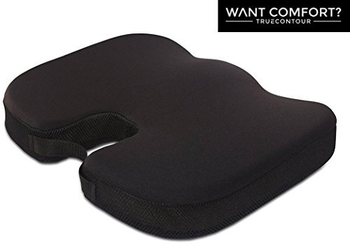 Vaunn Medical Coccyx Seat Cushion with Removable and Washable Cover, Alleviates Tailbone and Sciatica Pain, Supports and Contours to Lower Back