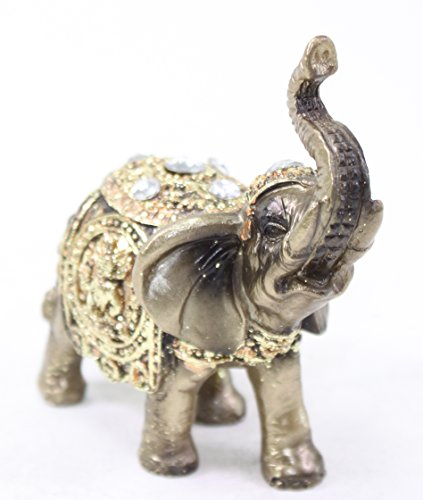 feng shui 4 bronze elephant trunk statue wealth lucky figurine gift home decor buddha statues. Black Bedroom Furniture Sets. Home Design Ideas