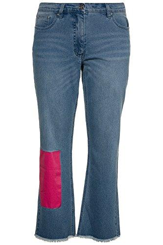 Studio Untold Damen Große Größen bis 54 | Jeans, Denim-Hose | 7/8, 5-Pocket, Straight | Zipper | Knopf, Gürtelschlaufen | Blau | 715397 Blue Denim
