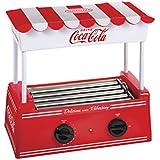 Nostalgia HDR565COKE Coca-Cola Hot Dog Roller with Bun Warmer