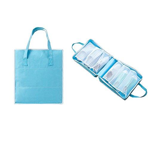 Kiwi Deluxe Party Kit (LANGUGU Shoe Bag Travel Organizer,Shoe storage/ Shoe Cube Portable Waterproof Shoe Bags Organizer for Vacation ,Travel, Workout, Dancing, Gym (Blue))