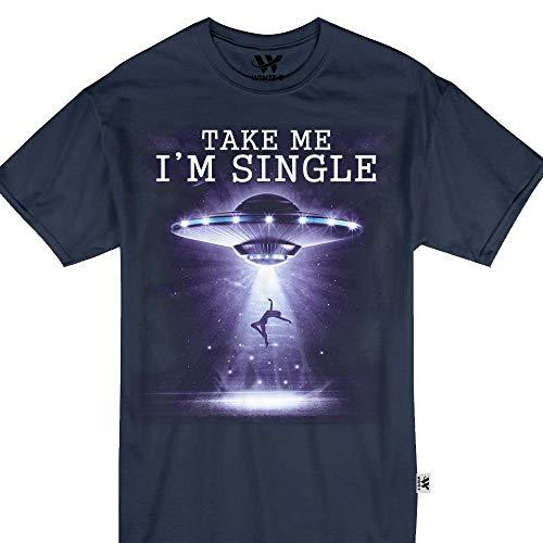 Take Me I'm Single UFO Alien Abduction Mars Spaceship Greatest Tshirt ()