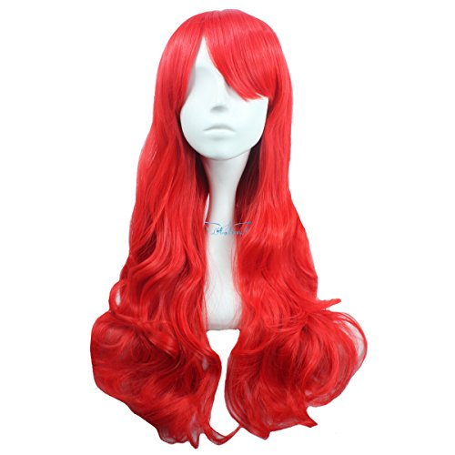 Jewish Lady Costume (Angelaicos Women's Synthetic Fiber Party Curly Costume Wig Long Red)