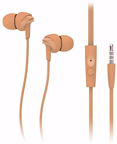 Stylish Universal Headset U 17 Stereo Dynamic Sound Universal With Mic For All Android  amp; iPhone Perfume Wired Headphones  Light Brown, On the Ear