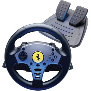 Guillemot Thrustmaster Ferrari - Guillemot Thrustmaster Ferrari Universal Challenge 5 in 1 Racing Wheel. THRUSTMASTER FERRARI RACING WHEEL PS3 PS2 PC GAMECUBE WII G-CTLR. Cable - PC, PlayStation 2, PlayStation 3, GameCube, Wii