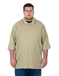 Men's Big & Tall Short Sleeve Polo Shirt (LT, Gray-Black)