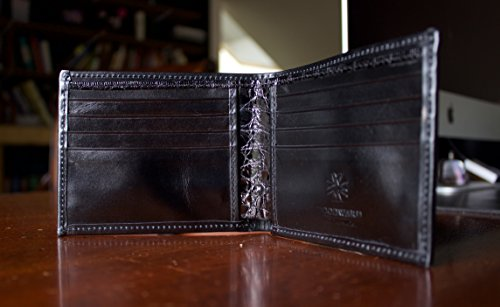 Leather John Bifold Designer Genuine Wallet and French Men's Calf by Alligator with Woodward Allen F5xPWw