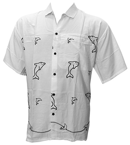 LA LEELA Shirt Camicia Hawaiana Uomo XS - 5XL Manica Corta Hawaii Tasca-Frontale Stampa Hawaiano Casuale Regular Fit Rosa0 XL