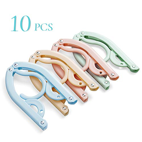 - Christopher M Battaglia Travel Hangers,10 Pcs Portable Folding Clothes Hangers Travel Accessories Plastic Foldable Non-Slip Lightweight Clothes Drying Rack for Home and Travel (Colorful)