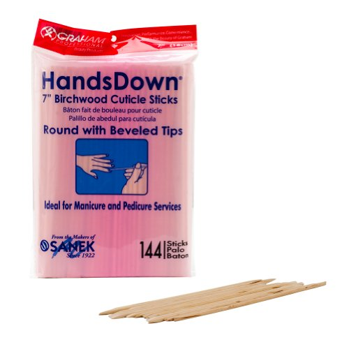 - Graham Hands Down Birchwood Cuticle Sticks, 7 Inches, 144 Count