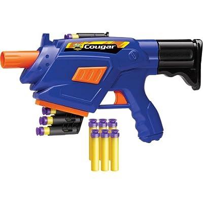 Foam Dart Automatic Blaster Gun Includes 1 Cougar and 10 soft foam darts