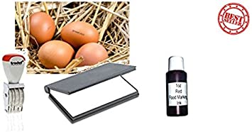 Egg dater kit (includes One 15ml Egg Safe ink Black One x Egg dater One x Dry ink pad)
