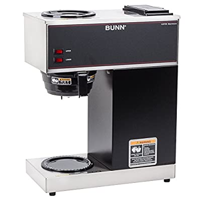 Bunn VPR 12 Cup Pourover Coffee Brewer with 2 Warmers - 120V (Bunn 33200.0000)