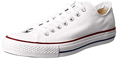Converse Chuck Taylor All Star Sneakers Unisex, Optical White : 6 US Men / 8 US Women