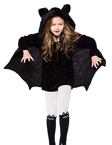 Hamour Kids Halloween Hooded Bat Wing Costume for