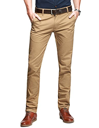 match-mens-slim-tapered-flat-front-casual-pantssandybrown34w-x-31l