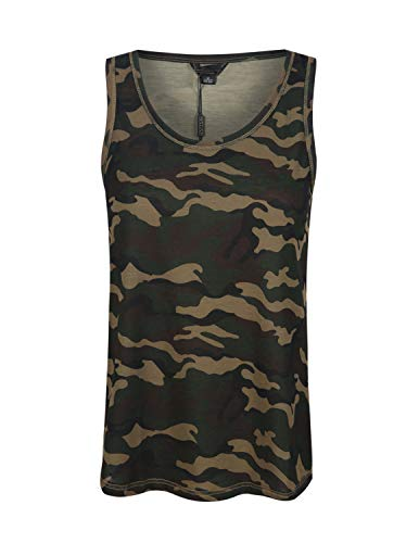 Camo Cami - HAOYIHUI Women's Military Camouflage Scoop Neck Sleevelss Tank Top(L