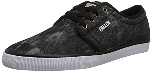 FALLEN Skateboard Shoes THOMAS FORTE 2 BLACK CHAMBRAY/BLACK