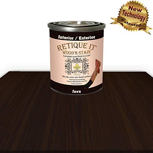 Wood'n Stain - Gel Stain with Liquid Wood by Retique It (16 oz Java)
