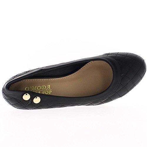 Scarpe donna nero tacco alto effetto trapuntato di 6 cm