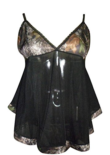 Mossy Oak Womens Babydoll Wilderness Dreams Camo Lingerie...