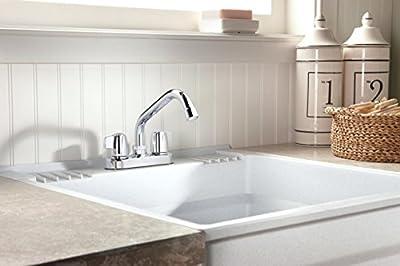 Delta Faucet 2133LF Classic Two Handle Laundry Faucet, Chrome