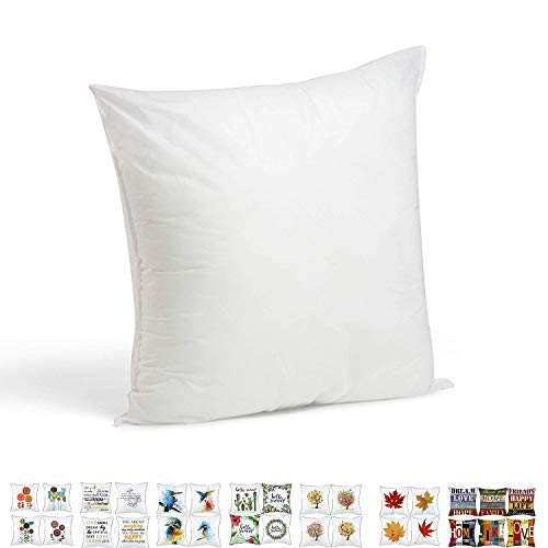(Onice Supply Decora Square Sham Foamily Premium Stuffer Pillow Insert Square Form Polyester StandardWhite, 17
