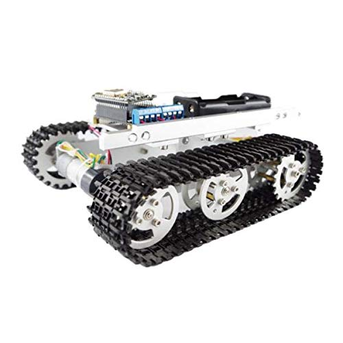 T100 Aluminum Alloy Metal Tank Track Chassis - Arduino Compatible SCM & DIY Kits Smart Robot & Solar Panel - (B) - 1 x Chassis