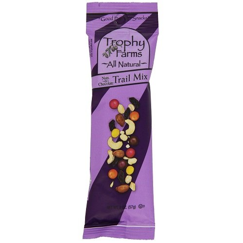 Trophy Farms All Natural Nuts N Chocolate Trail Mix, 2 Ounce - 12 per pack - 1 each. by Trophy Farms