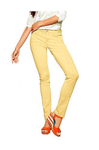 Mavi - Vaqueros - skinny - Opaco - para mujer amarillo