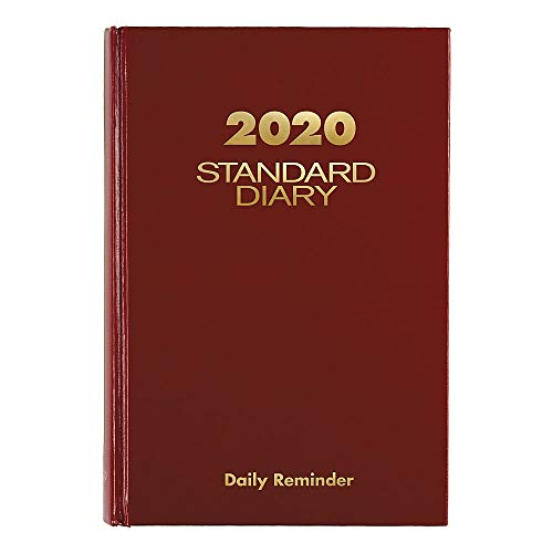 """AT-A-GLANCE 2020 Standard Diary, 5-3/4"""" x 8-1/4"""", Medium, Red (SD3891320)"""