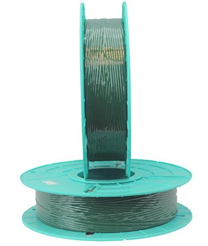 2.500 ft. Standard Paper / Plastic Green Twist Tie Ribbons (10 Spools) - 03-2500-Green by Miller Supply Inc