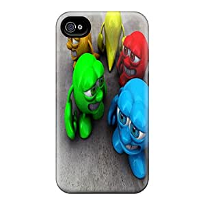 Tpu Case For Iphone 4/4s With 3d Fun