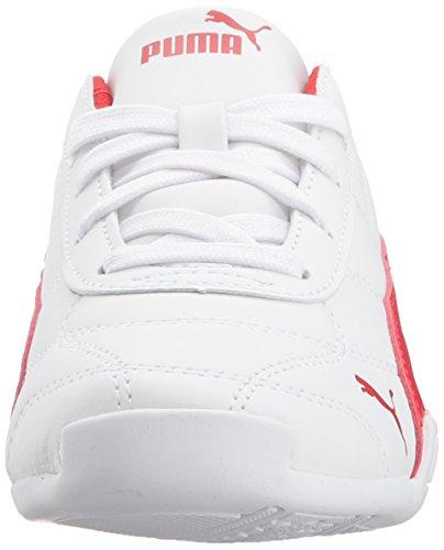 PUMA Unisex-Kids Tune Cat 3 Sneaker, White-Flame Scarlet, 11.5 M US Little Kid