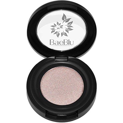 Best Organic 100% Natural Vegan Eyeshadow Makeup, Made in USA, Finely Pressed Velvety Smooth Eyeshadow Pigment by BaeBlu, Iced Mocha