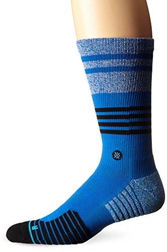 Stance Men's Mode Light Cushion Crew Socks, Blue, Large/Shoe Size 9-12
