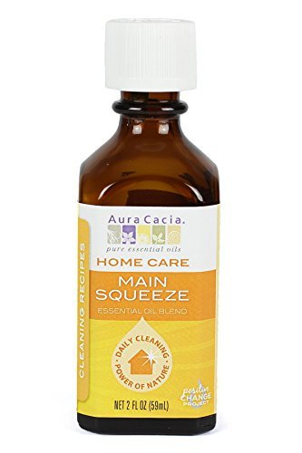 Aura Cacia Main Squeeze Essential Oil Blend for Home Care, 2 Fluid Ounce by Aura Cacia