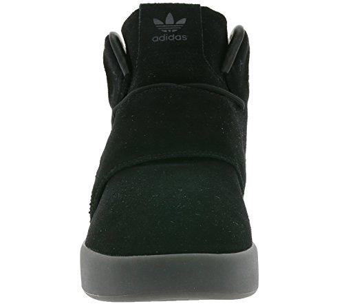 adidas Tubular Invader Strap, Baskets Montantes Mixte Adulte Noir