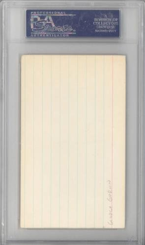 "George""Iceman"" Gervin Autographed Signed 3x5 Index Card Spurs #83811679 PSA/DNA Certified NBA Cut Signatures"