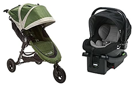 Baby Jogger 2016 City Mini GT Travel System in Evergreen/Black