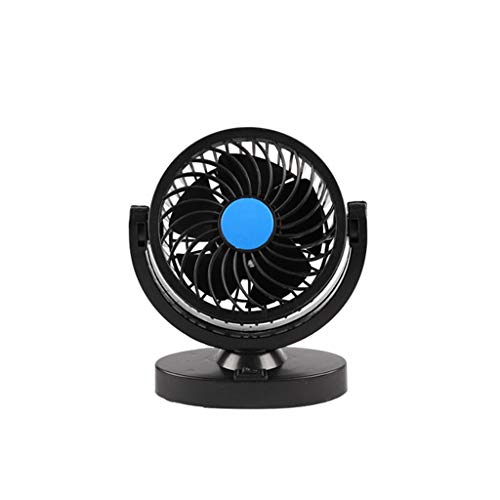 GOVOW-Tech Small Fans Electric for Women & Children 12V Dual Head Car Cooling Oscillating Dashboard Ventilation Air -