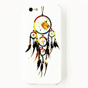RC - Feather Dream Catcher Pattern Plastic Hard Case for iPhone 4/4S , Multicolor
